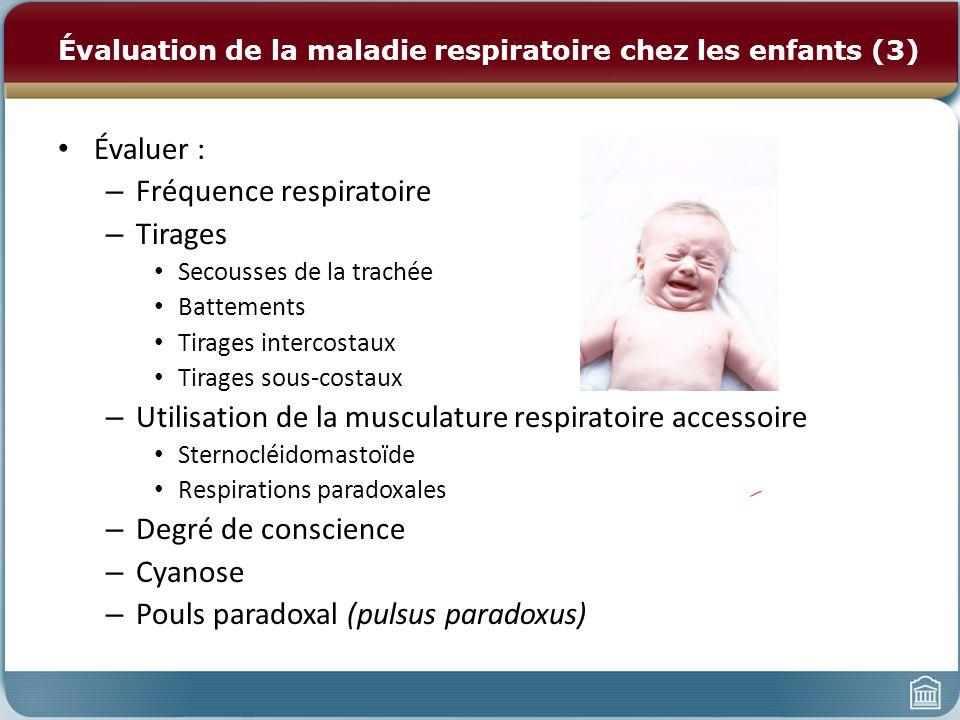 Évaluation de la maladie respiratoire chez les enfants (3)