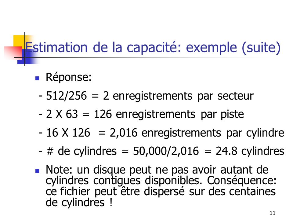 Estimation de la capacité: exemple (suite)