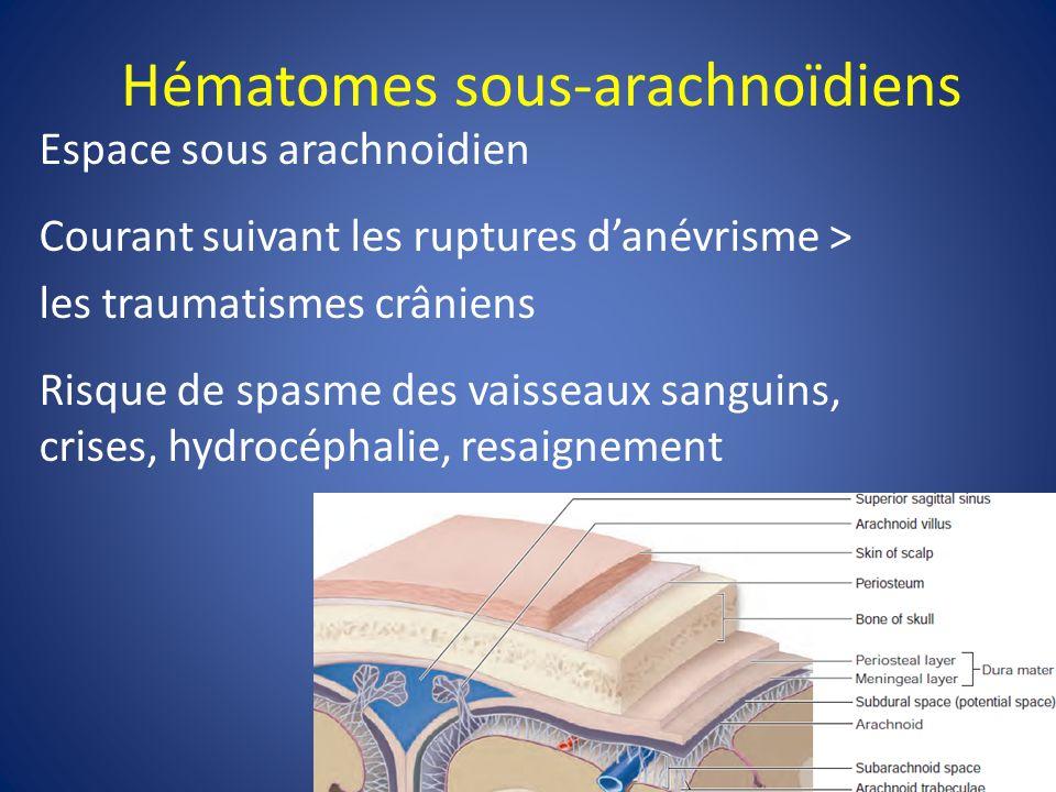 Hématomes sous-arachnoïdiens