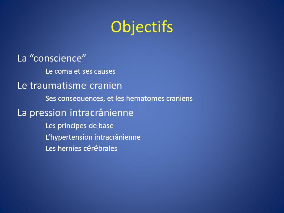 Objectifs La conscience Le traumatisme cranien