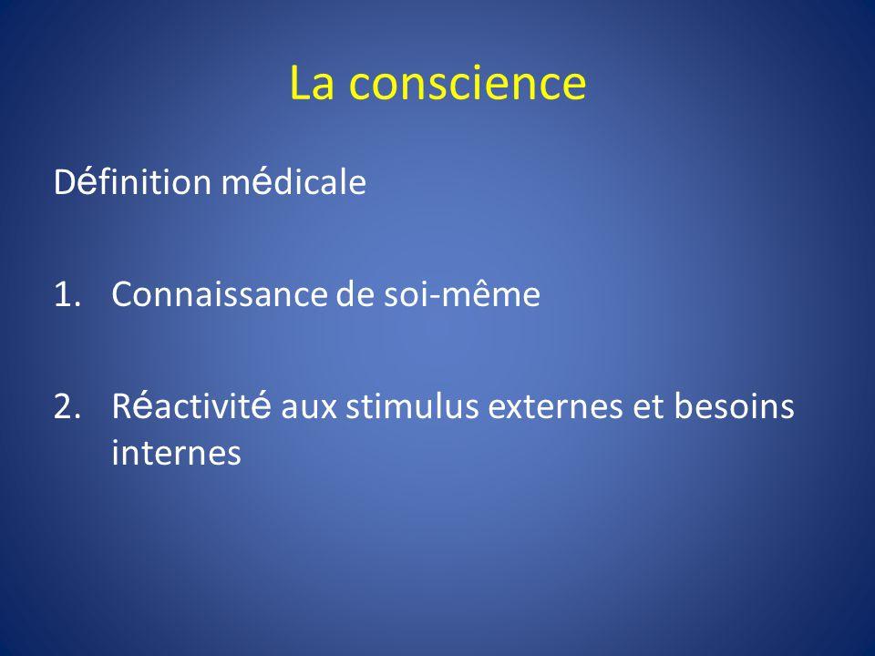 La conscience Définition médicale Connaissance de soi-même