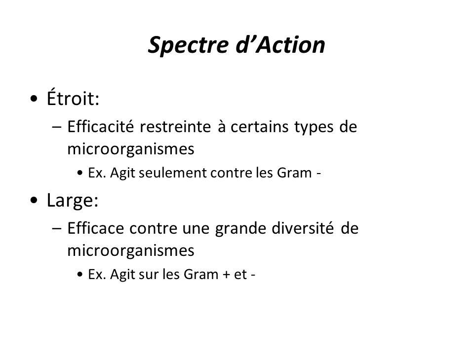 Spectre d'Action Étroit: Large: