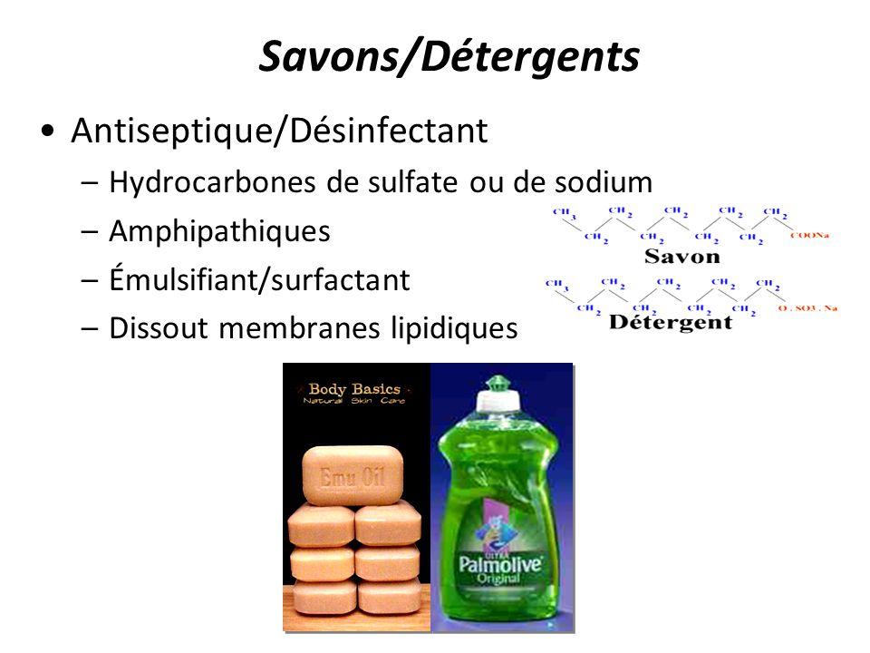 Savons/Détergents Antiseptique/Désinfectant