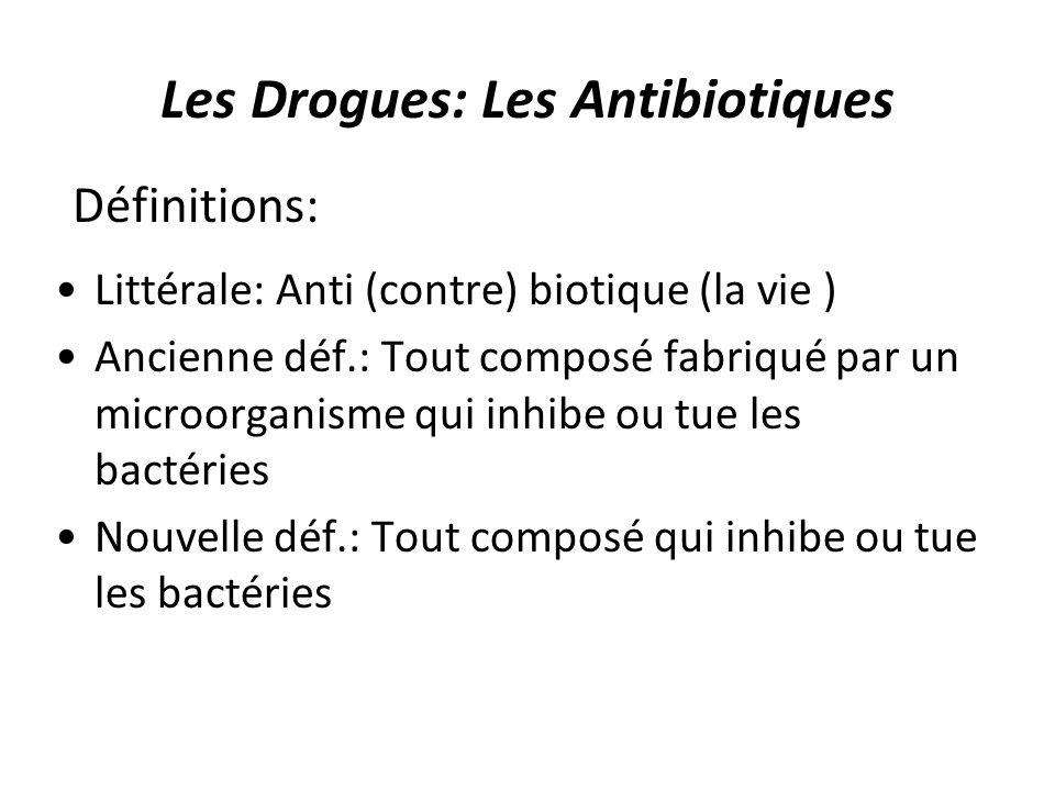 Les Drogues: Les Antibiotiques