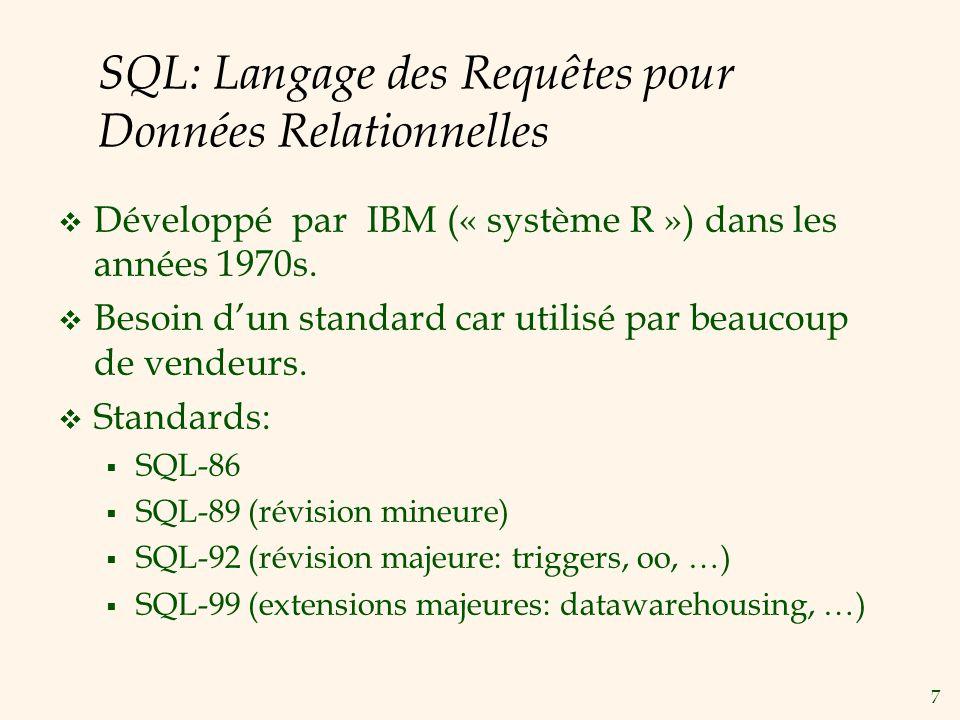 SQL: Langage des Requêtes pour Données Relationnelles