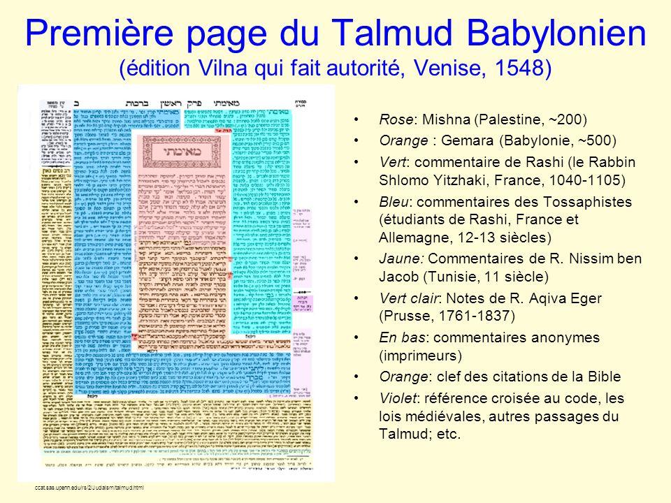 Première page du Talmud Babylonien (édition Vilna qui fait autorité, Venise, 1548)
