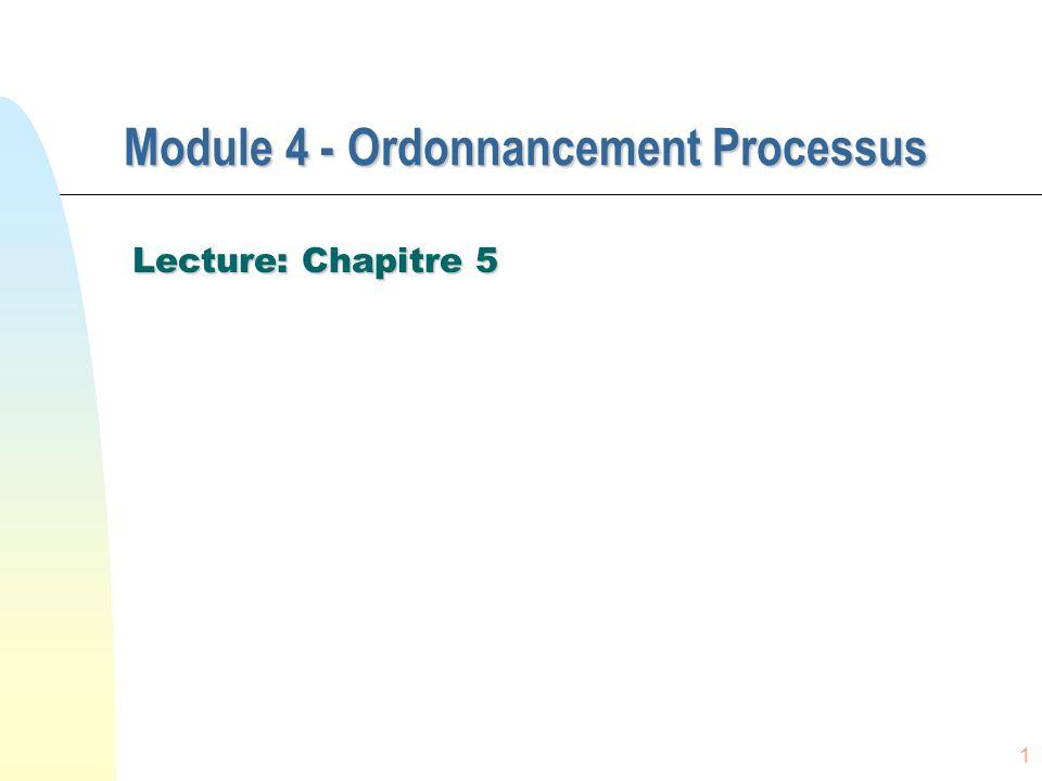 Module 4 - Ordonnancement Processus