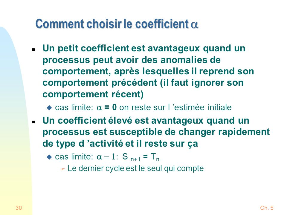 Comment choisir le coefficient a