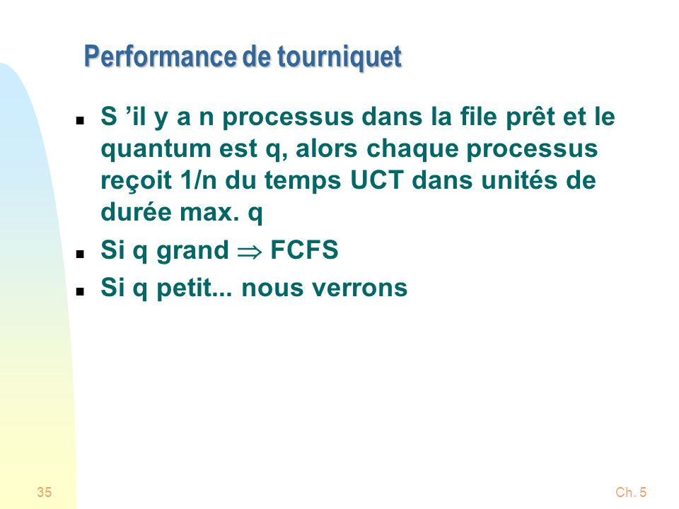 Performance de tourniquet