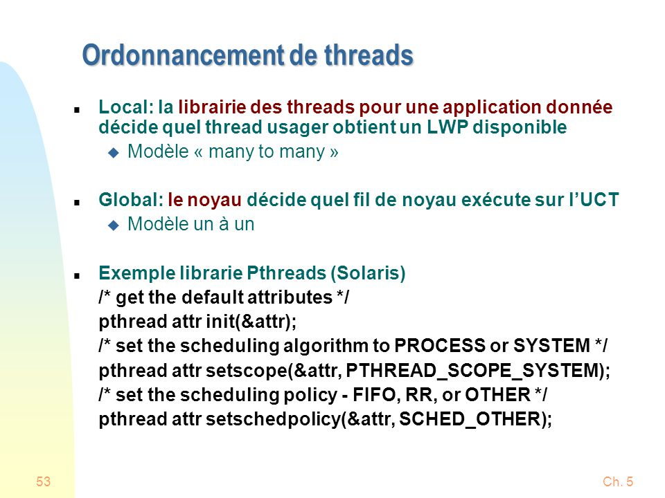Ordonnancement de threads