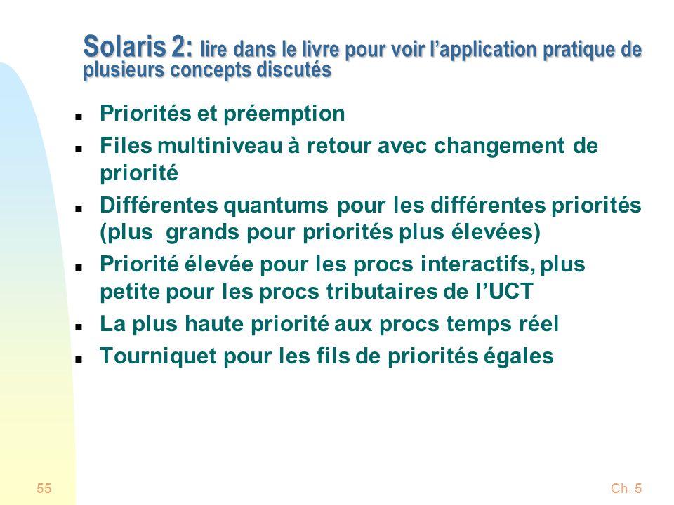 Solaris 2: lire dans le livre pour voir l'application pratique de plusieurs concepts discutés