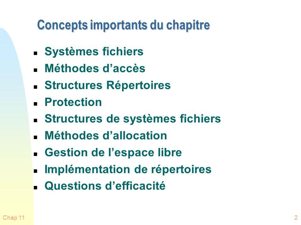 Concepts importants du chapitre