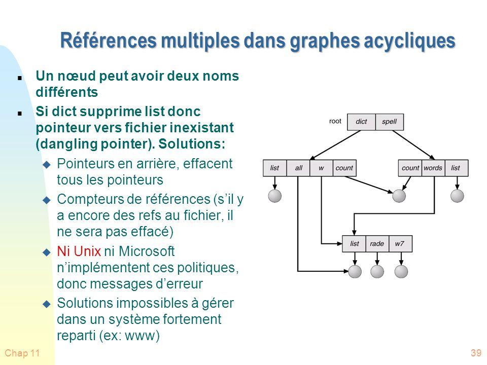 Références multiples dans graphes acycliques