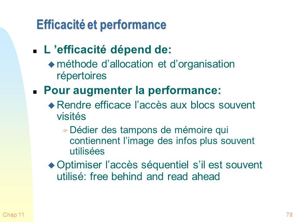 Efficacité et performance