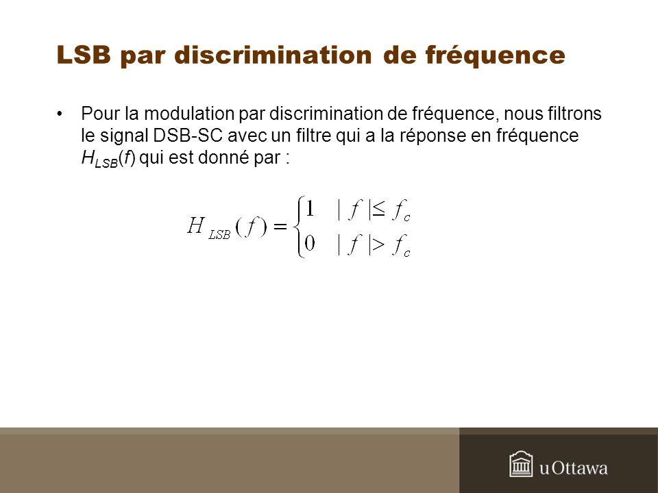 LSB par discrimination de fréquence