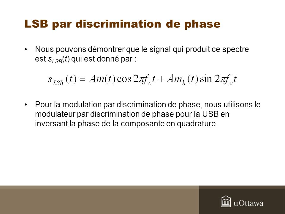 LSB par discrimination de phase