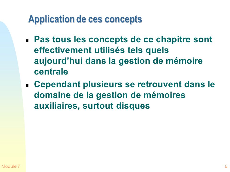 Application de ces concepts
