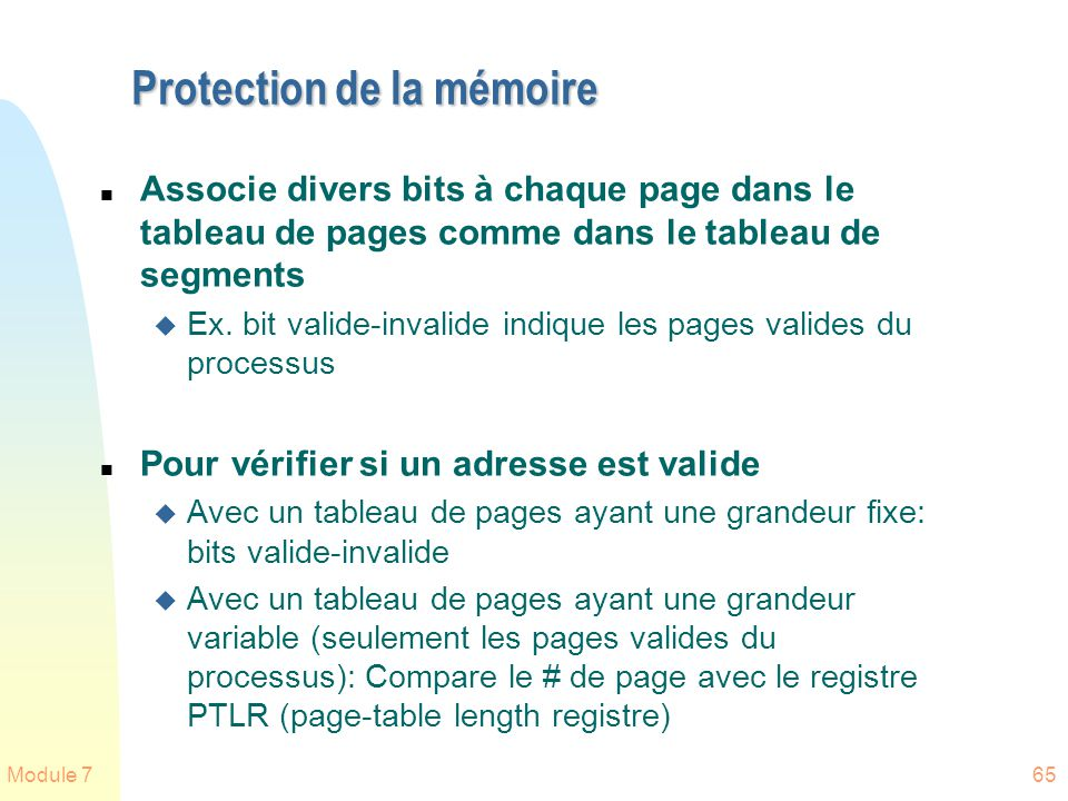 Protection de la mémoire