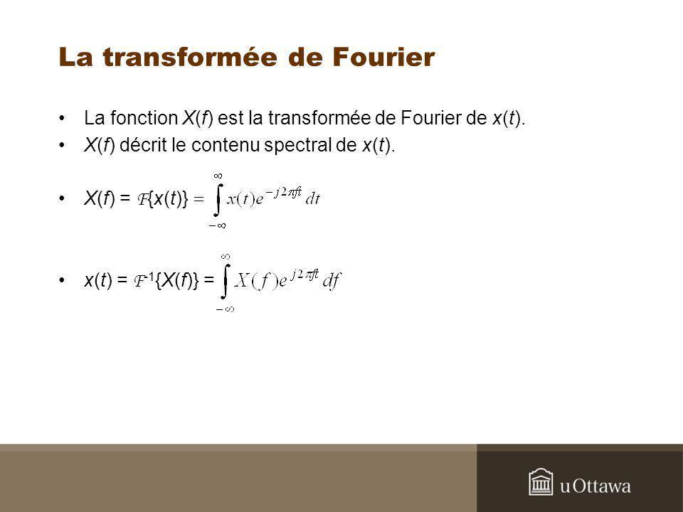 La transformée de Fourier