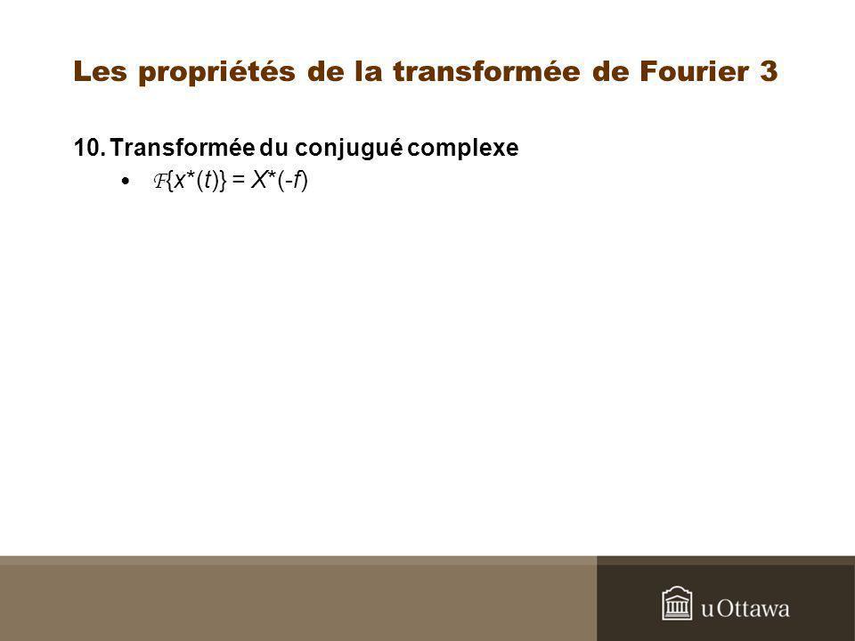Les propriétés de la transformée de Fourier 3