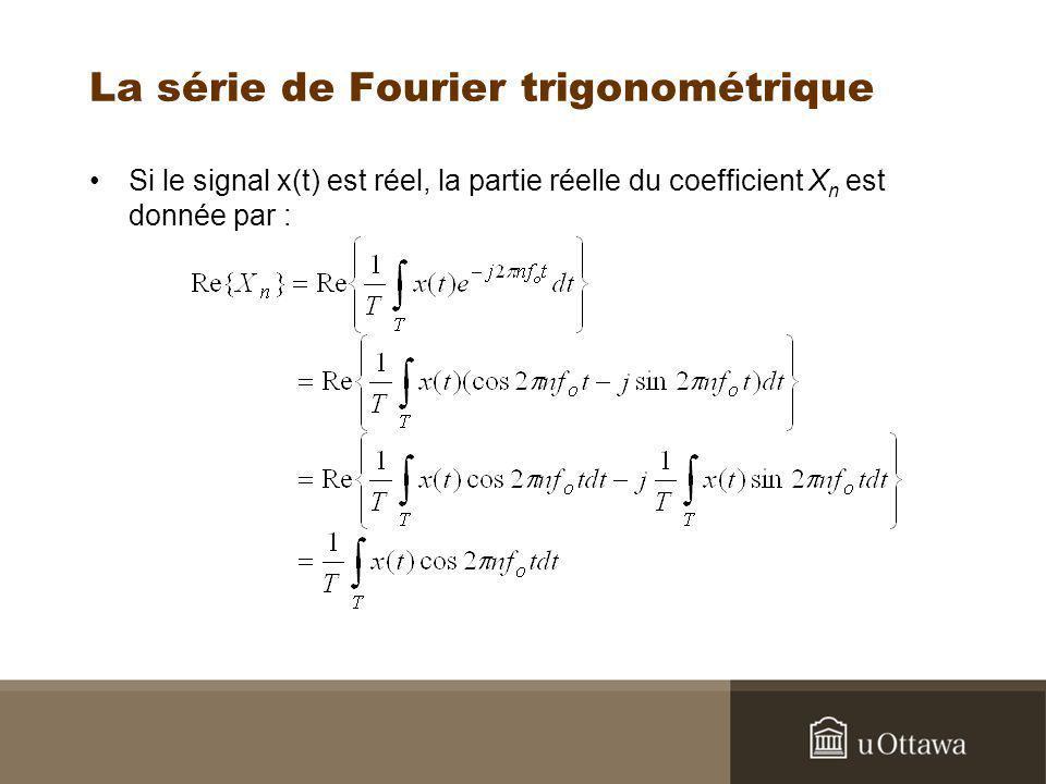 La série de Fourier trigonométrique