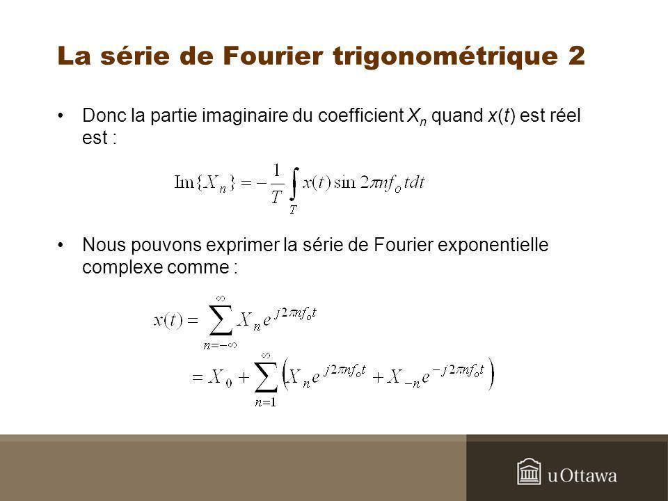 La série de Fourier trigonométrique 2