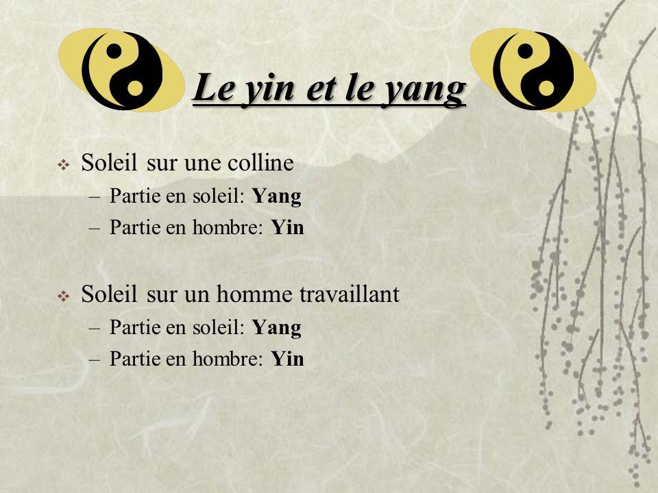 Le yin et le yang Soleil sur une colline