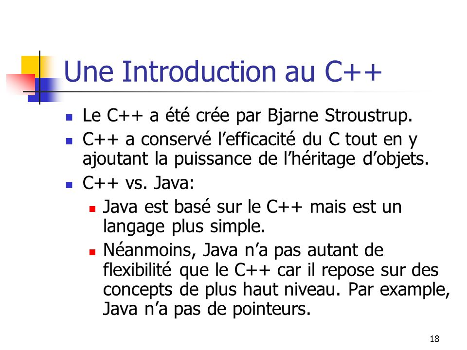 Une Introduction au C++