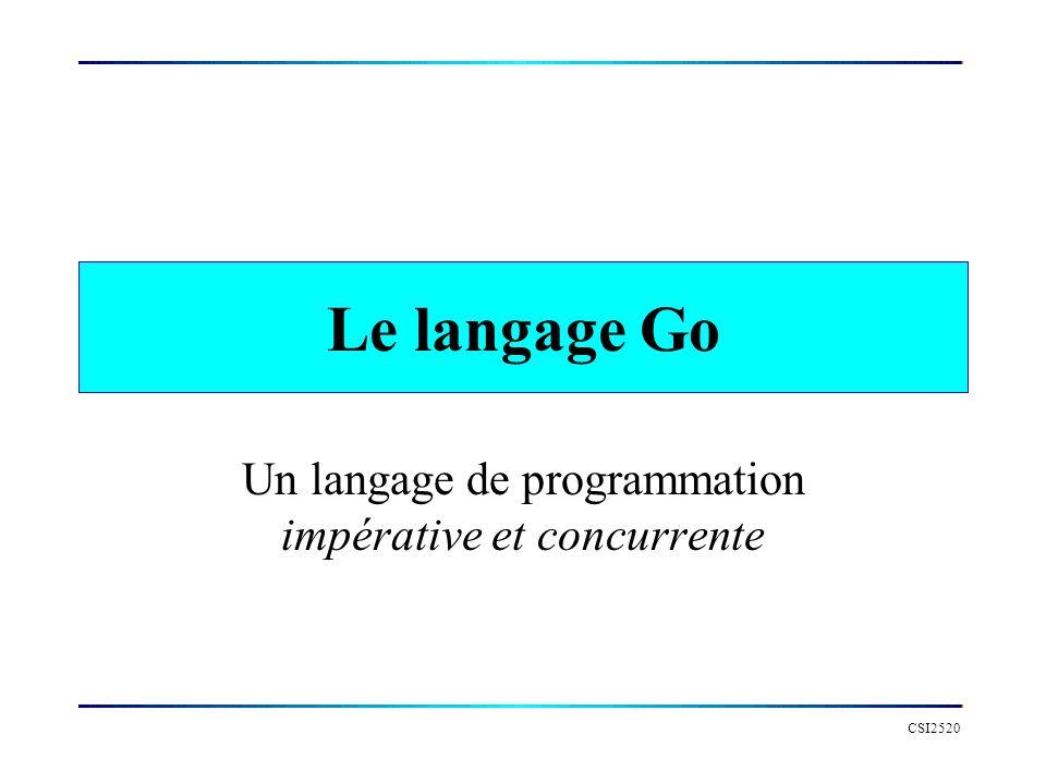Un langage de programmation impérative et concurrente