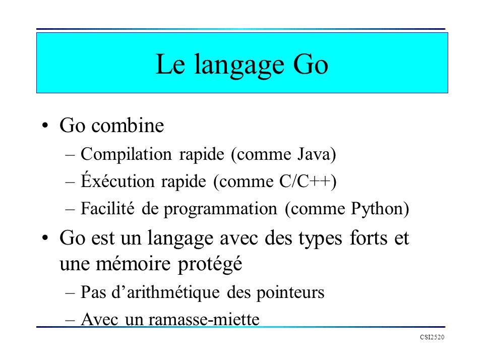 Le langage Go Go combine