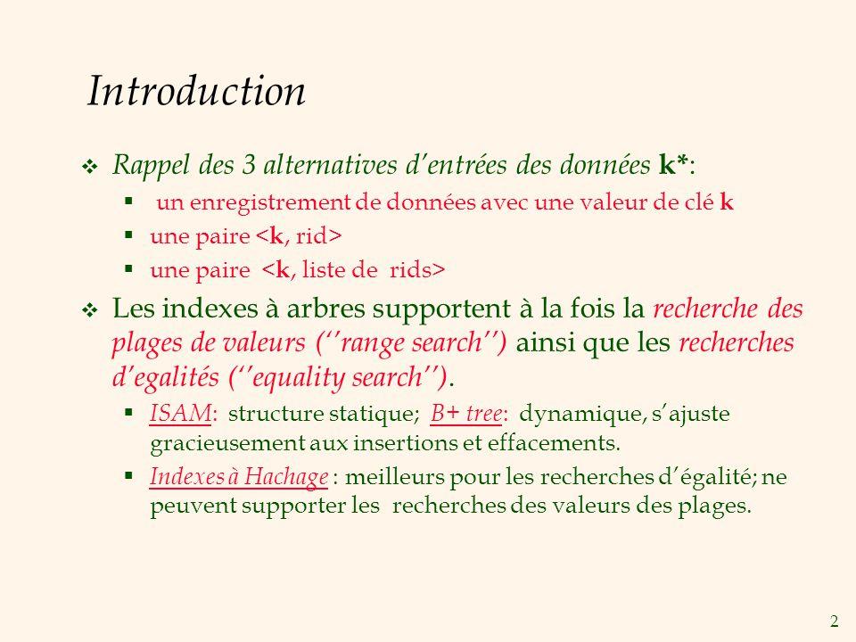Introduction Rappel des 3 alternatives d'entrées des données k*: