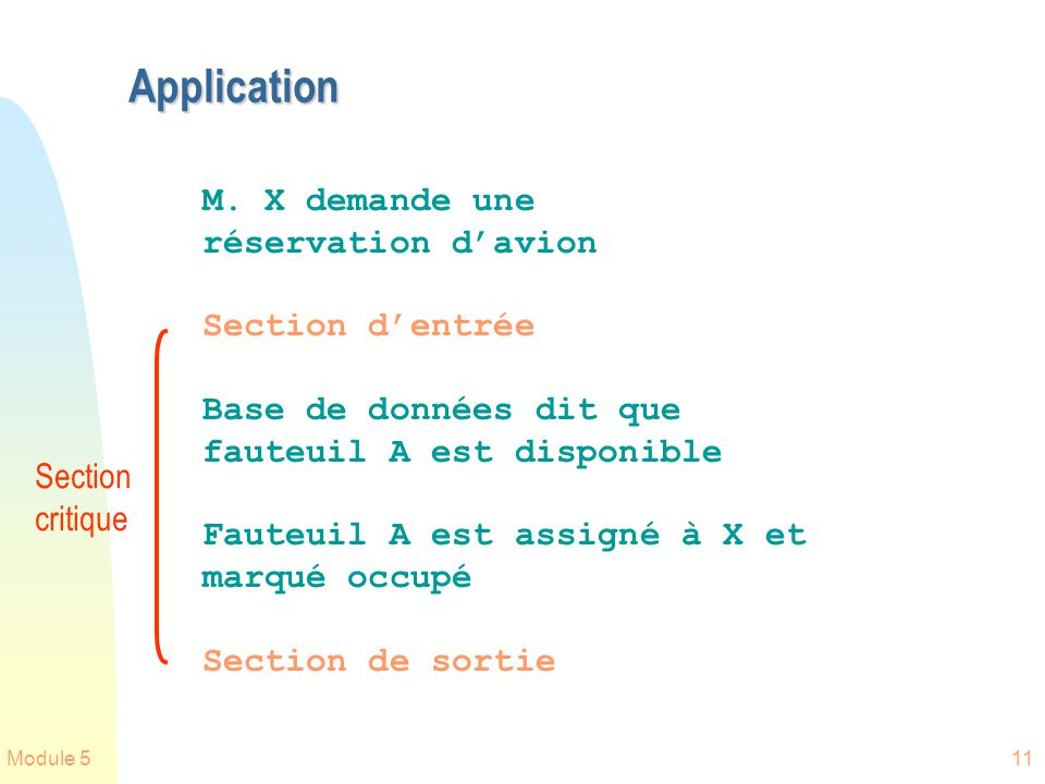 Application M. X demande une réservation d'avion Section d'entrée
