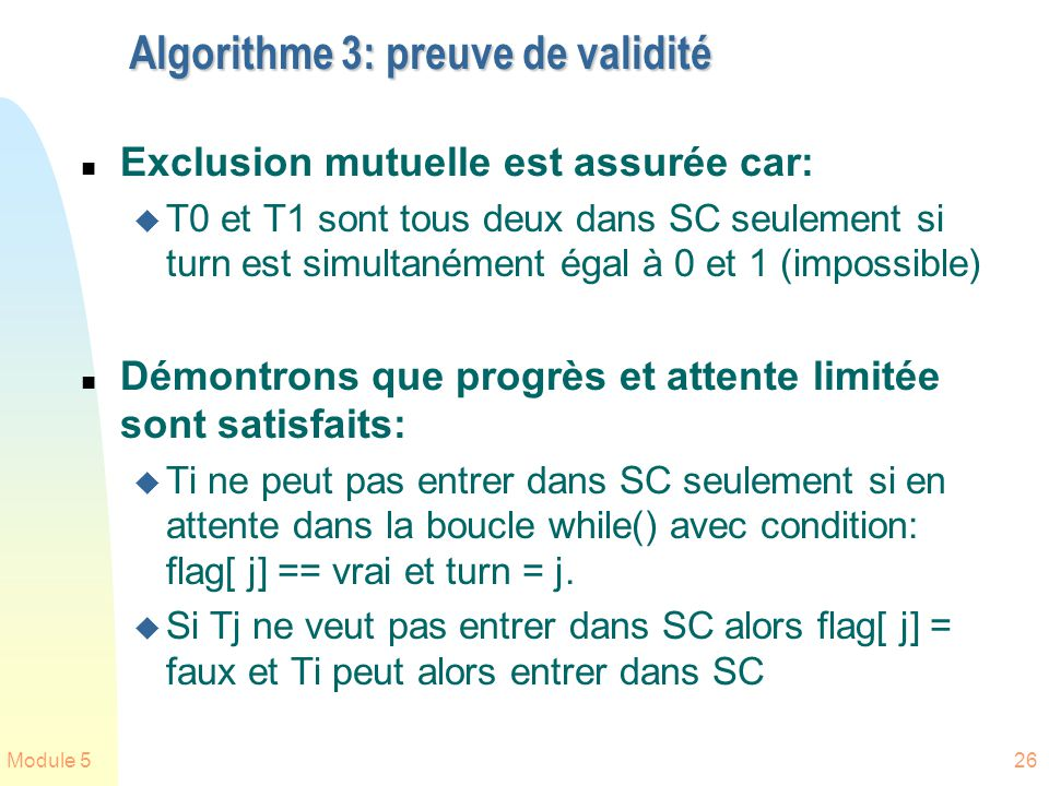 Algorithme 3: preuve de validité