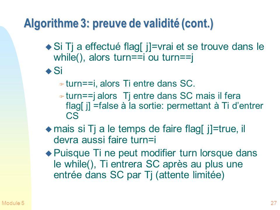 Algorithme 3: preuve de validité (cont.)