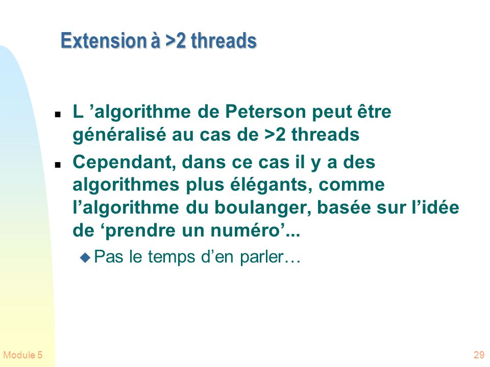 Extension à >2 threads