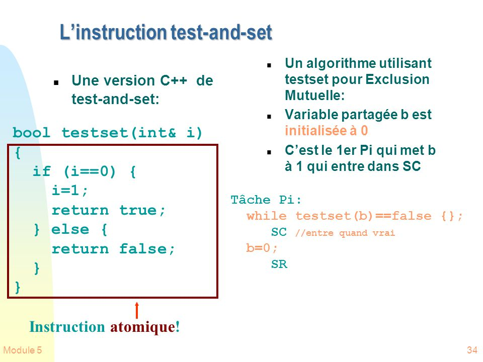 L'instruction test-and-set