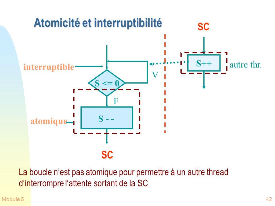 Atomicité et interruptibilité