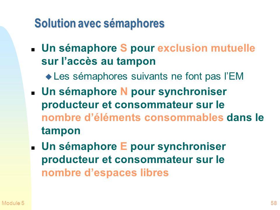 Solution avec sémaphores