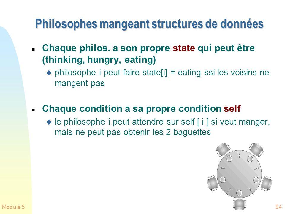 Philosophes mangeant structures de données
