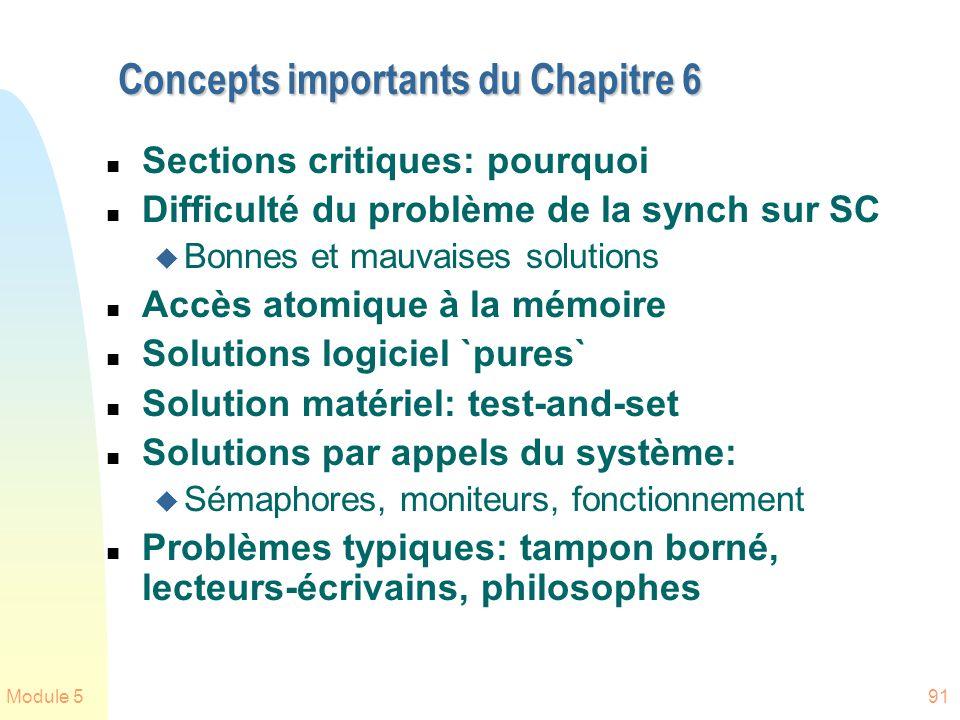Concepts importants du Chapitre 6