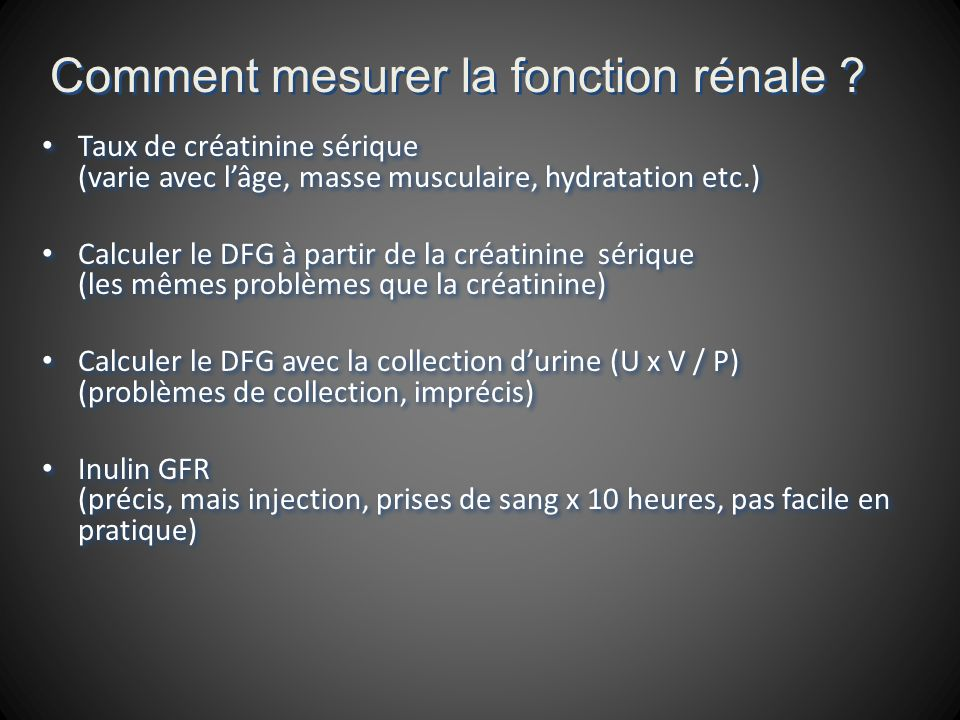 Module rénal - Test d évaluation formative