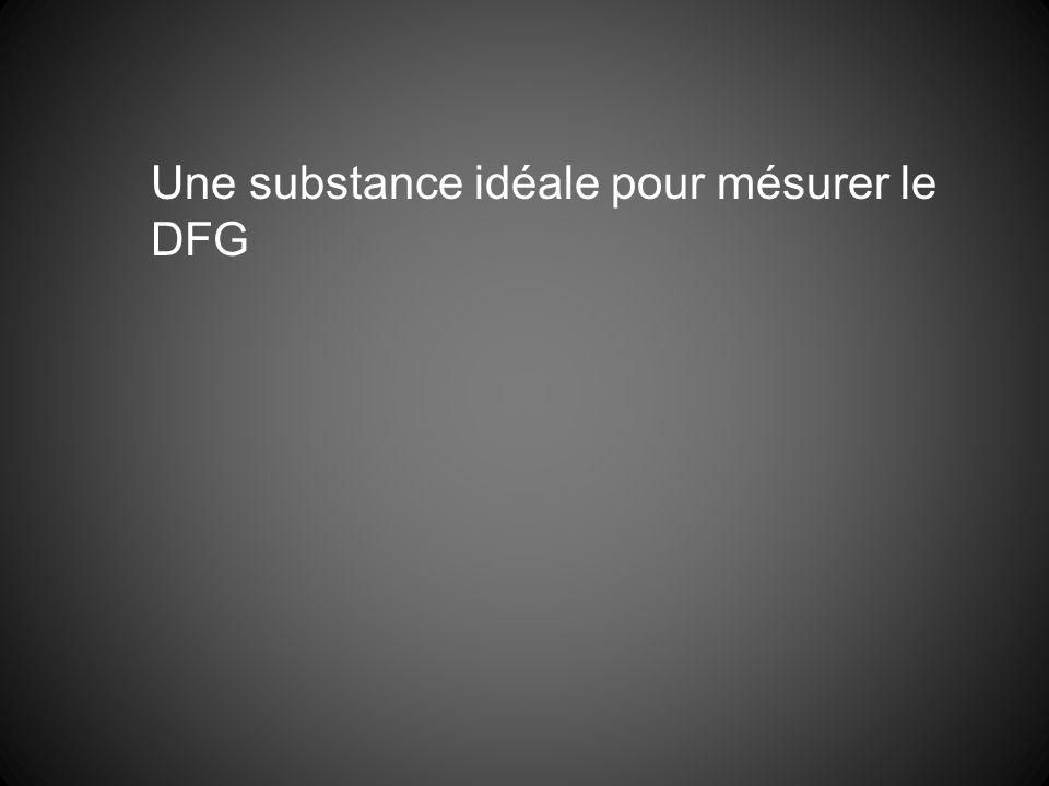 Une substance idéale pour mésurer le DFG