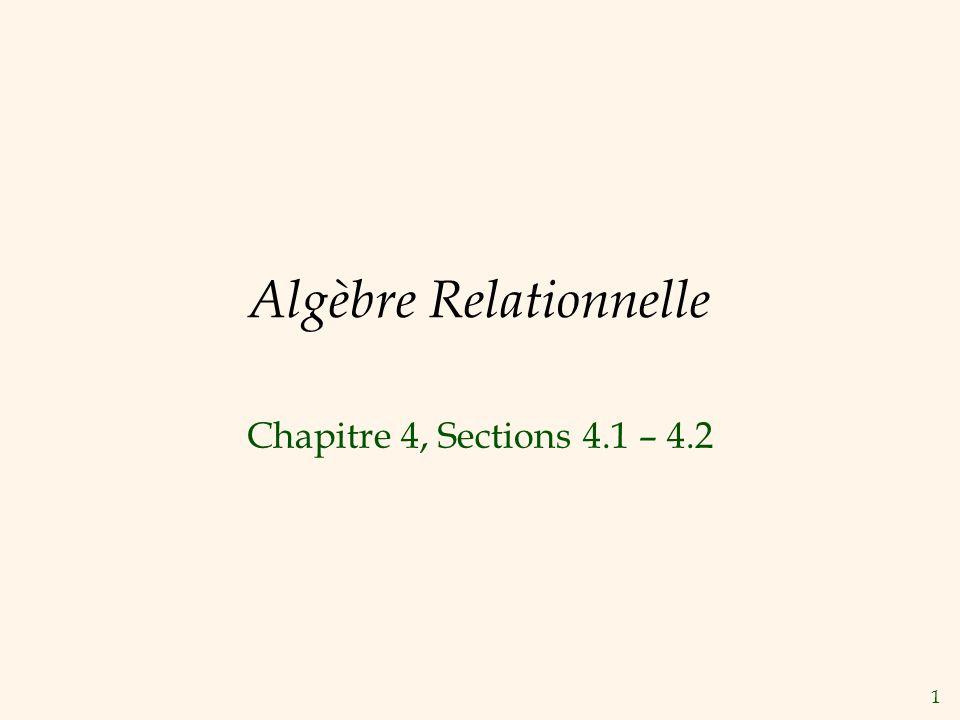 Algèbre Relationnelle