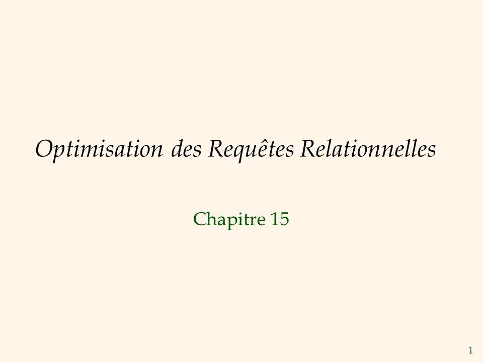Optimisation des Requêtes Relationnelles