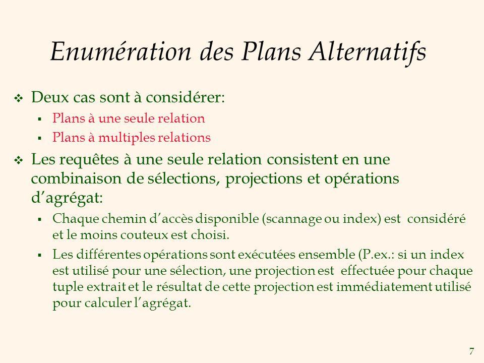 Enumération des Plans Alternatifs