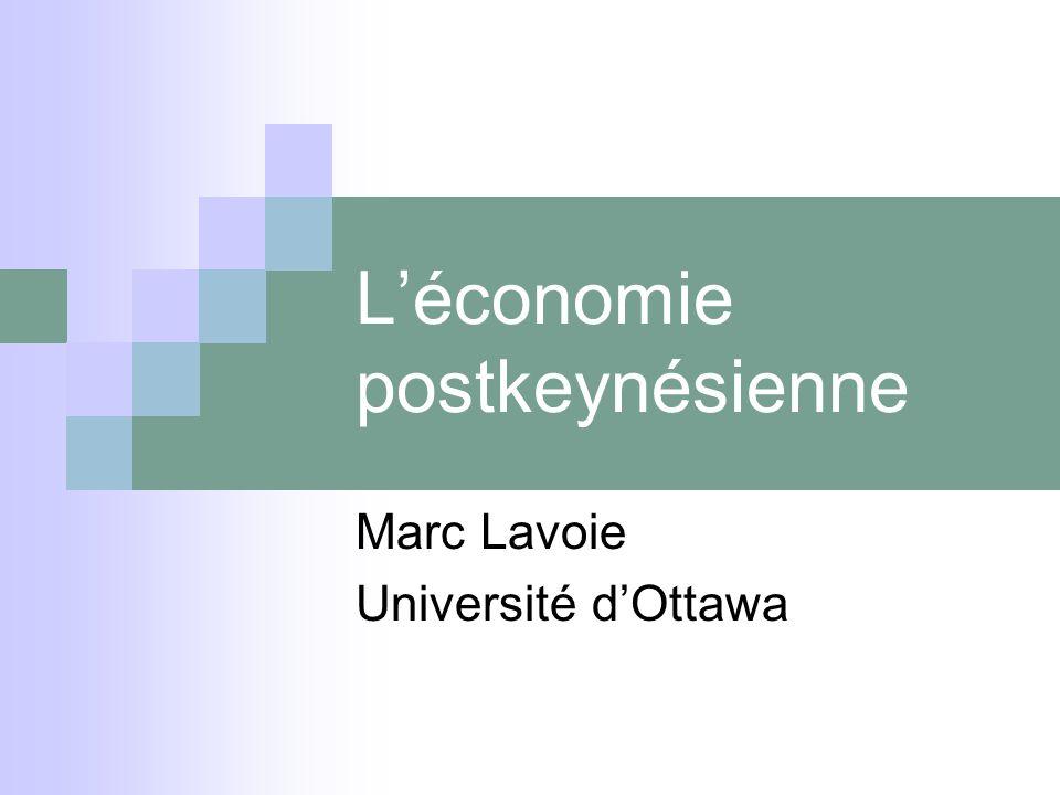 L'économie postkeynésienne