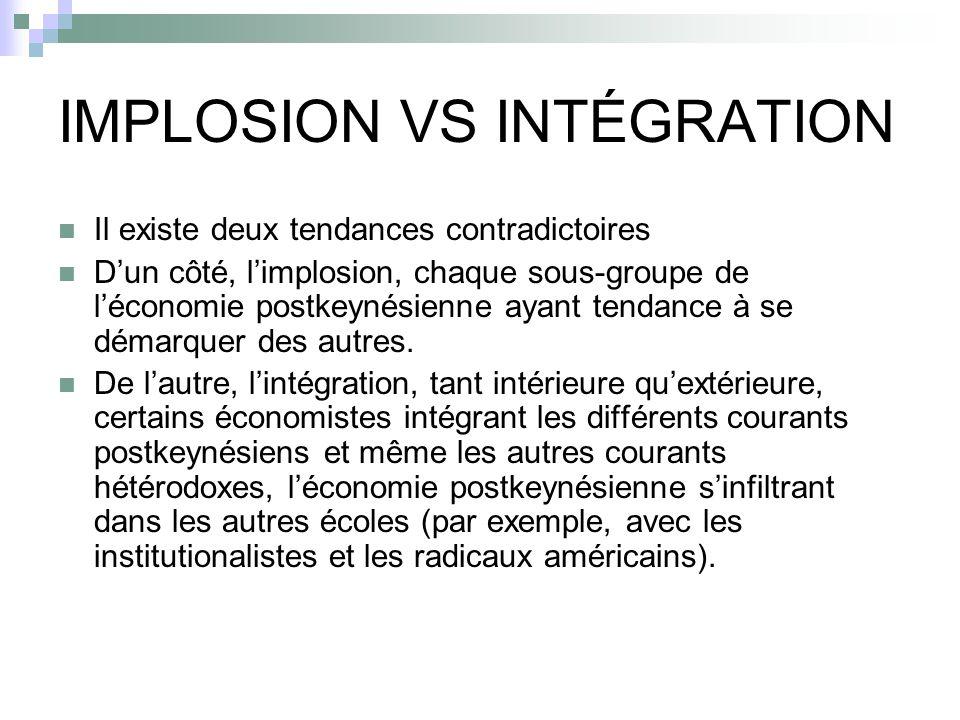 IMPLOSION VS INTÉGRATION