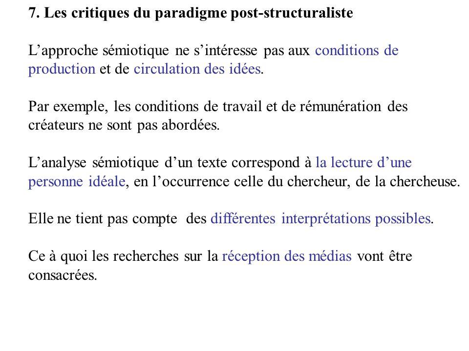 7. Les critiques du paradigme post-structuraliste