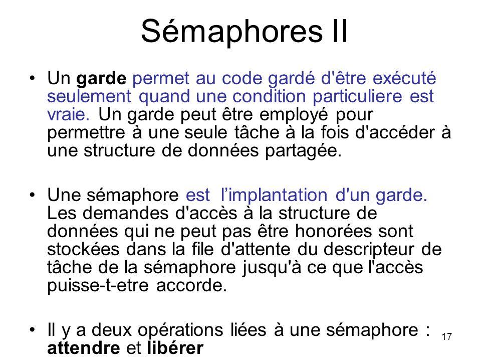 Sémaphores II
