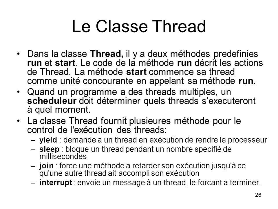 Le Classe Thread